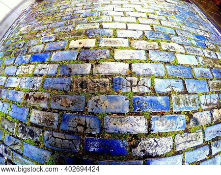 The Blue Bricks From The Cobblestones Road Of San Juan, Puerto Rico
