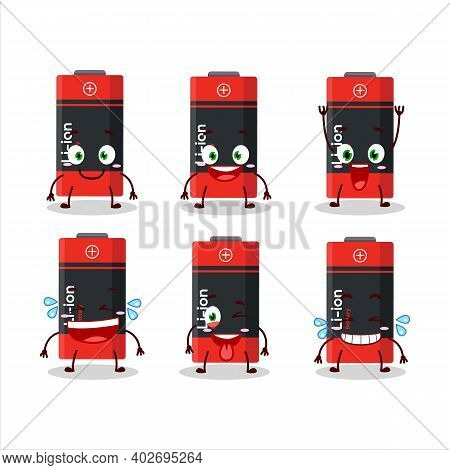Cartoon Character Of Li Ion Battery With Smile Expression