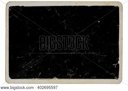 Dusty And Grungy Photo Paper Texture And Surface. Abstract Dirty Or Scratch Aging Effect. Use For Ov
