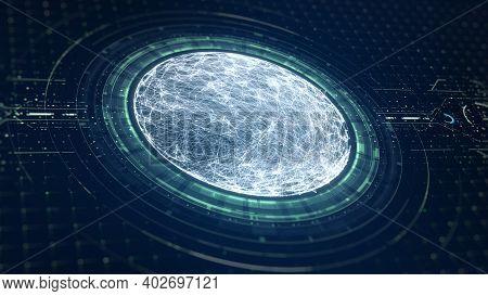 Technology Big Data Concept.