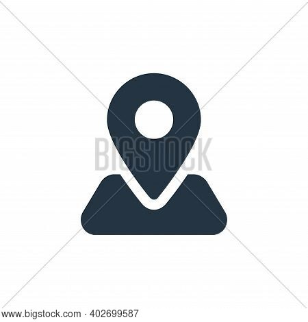 locator icon isolated on white background. locator icon thin line outline linear locator symbol for