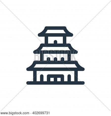 pagoda icon isolated on white background. pagoda icon thin line outline linear pagoda symbol for log