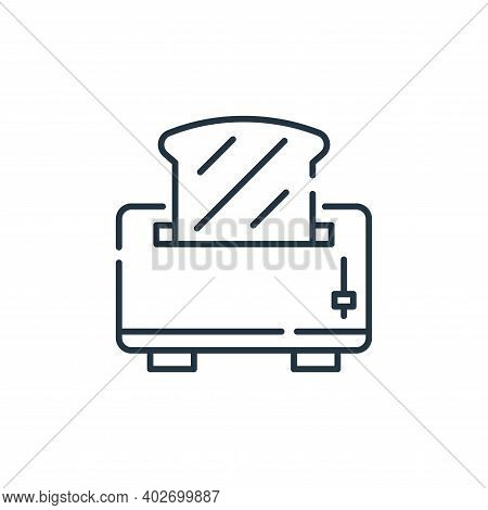 toaster icon isolated on white background. toaster icon thin line outline linear toaster symbol for