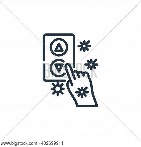 elevator icon isolated on white background. elevator icon thin line outline linear elevator symbol f