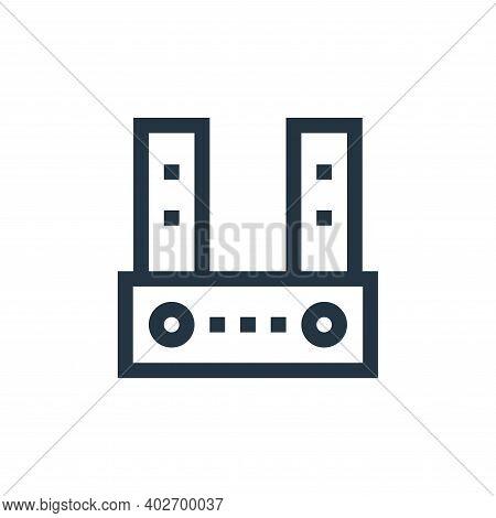 sound bar icon isolated on white background. sound bar icon thin line outline linear sound bar symbo