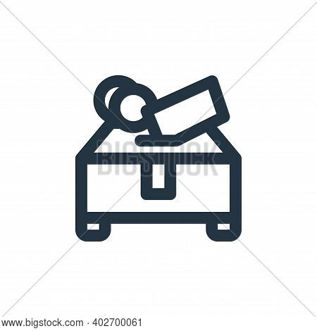 charity icon isolated on white background. charity icon thin line outline linear charity symbol for