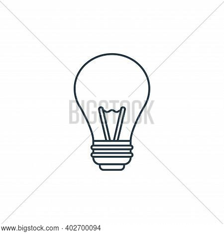 light bulb icon isolated on white background. light bulb icon thin line outline linear light bulb sy