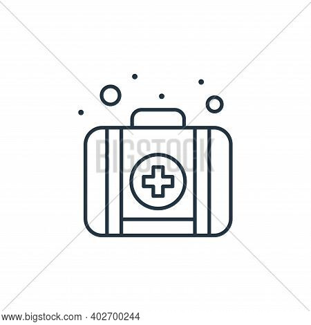 emergency kit icon isolated on white background. emergency kit icon thin line outline linear emergen
