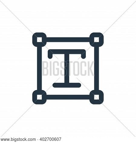text box icon isolated on white background. text box icon thin line outline linear text box symbol f
