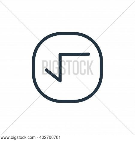 root icon isolated on white background. root icon thin line outline linear root symbol for logo, web