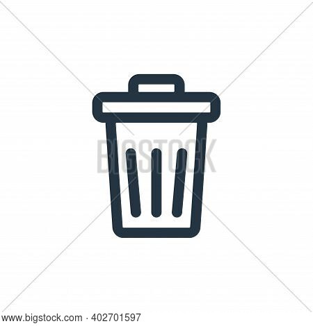 garbage icon isolated on white background. garbage icon thin line outline linear garbage symbol for