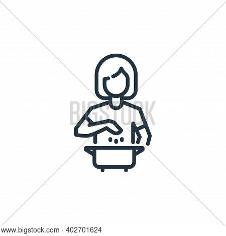 cooking icon isolated on white background. cooking icon thin line outline linear cooking symbol for