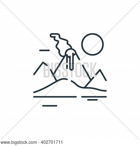 volcano icon isolated on white background. volcano icon thin line outline linear volcano symbol for