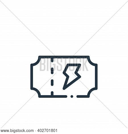 concert ticket icon isolated on white background. concert ticket icon thin line outline linear conce