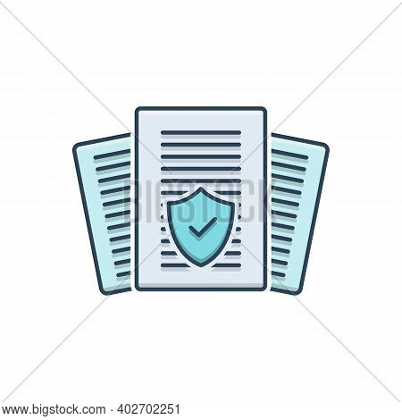 Color Illustration Icon For Insurance-audit Insurance Audit Policy Checkmark Verification Warranty