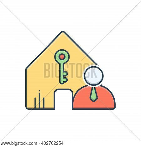 Color Illustration Icon For Landlord-insurance Landlord Insurance Accommodation Property Policy