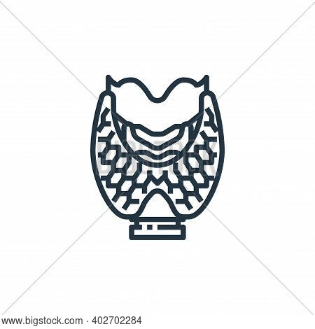 thyroid icon isolated on white background. thyroid icon thin line outline linear thyroid symbol for