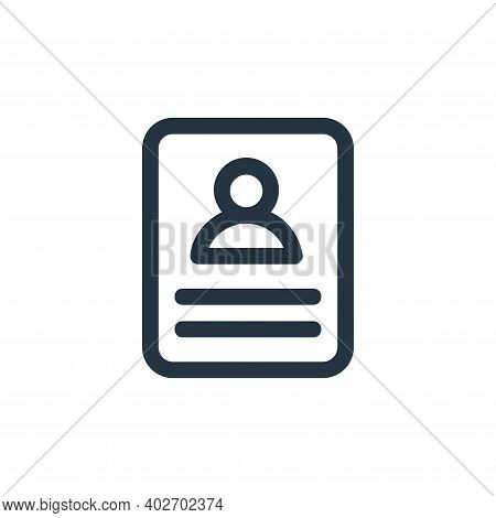 CV icon isolated on white background. CV icon thin line outline linear CV symbol for logo, web, app,