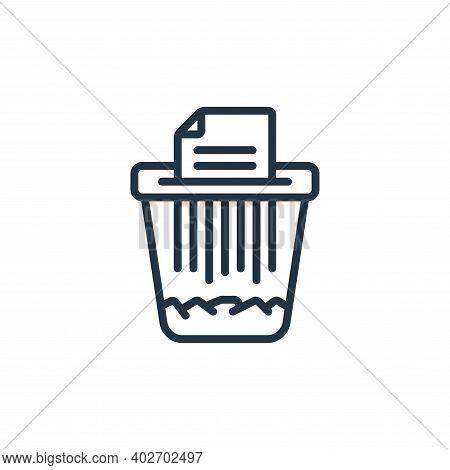 paper shredder icon isolated on white background. paper shredder icon thin line outline linear paper