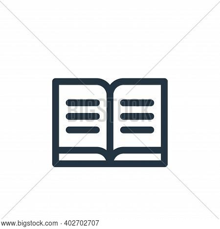 sacred scriptures icon isolated on white background. sacred scriptures icon thin line outline linear