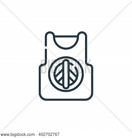 tank top icon isolated on white background. tank top icon thin line outline linear tank top symbol f