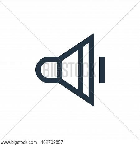low volume icon isolated on white background. low volume icon thin line outline linear low volume sy