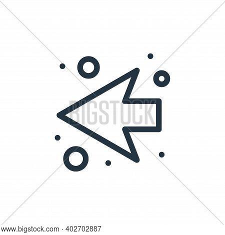 back arrow icon isolated on white background. back arrow icon thin line outline linear back arrow sy