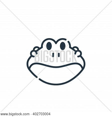 frog icon isolated on white background. frog icon thin line outline linear frog symbol for logo, web
