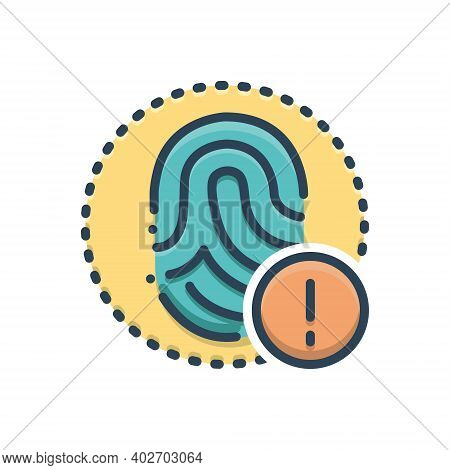 Color Illustration Icon For Alert Warning Caveat Caution Admonition