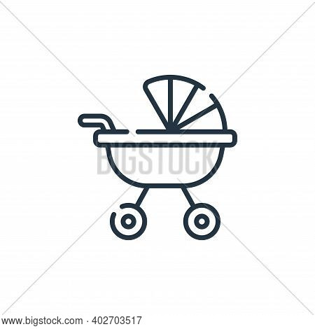 baby stroller icon isolated on white background. baby stroller icon thin line outline linear baby st