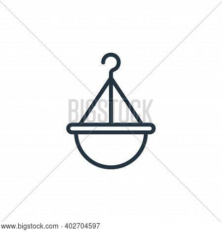 hanging pot icon isolated on white background. hanging pot icon thin line outline linear hanging pot