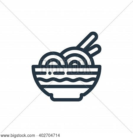 noodle icon isolated on white background. noodle icon thin line outline linear noodle symbol for log