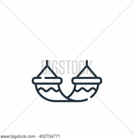 hammock icon isolated on white background. hammock icon thin line outline linear hammock symbol for