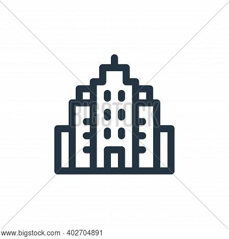 buildings icon isolated on white background. buildings icon thin line outline linear buildings symbo