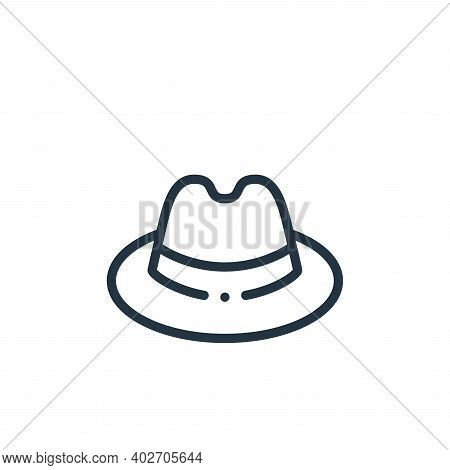fedora hat icon isolated on white background. fedora hat icon thin line outline linear fedora hat sy