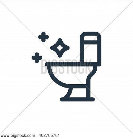 toilet icon isolated on white background. toilet icon thin line outline linear toilet symbol for log