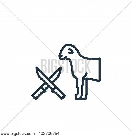 goat icon isolated on white background. goat icon thin line outline linear goat symbol for logo, web