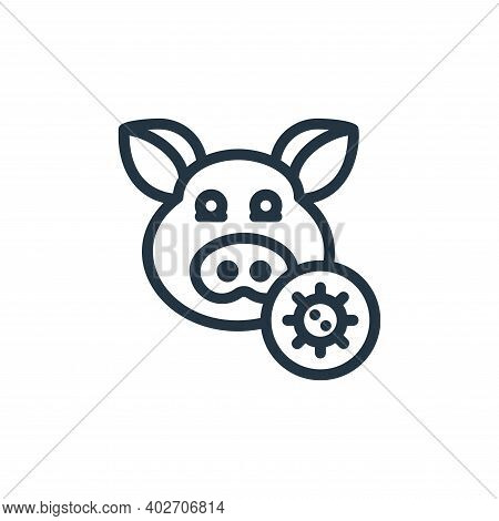 pig icon isolated on white background. pig icon thin line outline linear pig symbol for logo, web, a