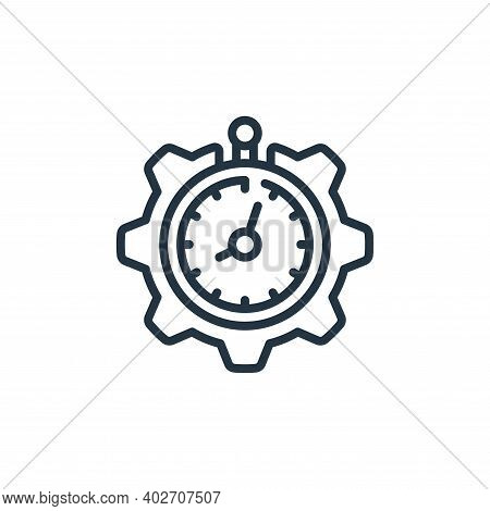 time management icon isolated on white background. time management icon thin line outline linear tim