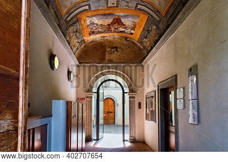 Bergamo, Italy - May 22, 2019: Corridor In The House Of Arciprete (casa Fogaccia O Dell'arciprete),