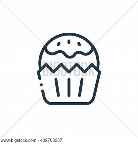 cupcake icon isolated on white background. cupcake icon thin line outline linear cupcake symbol for