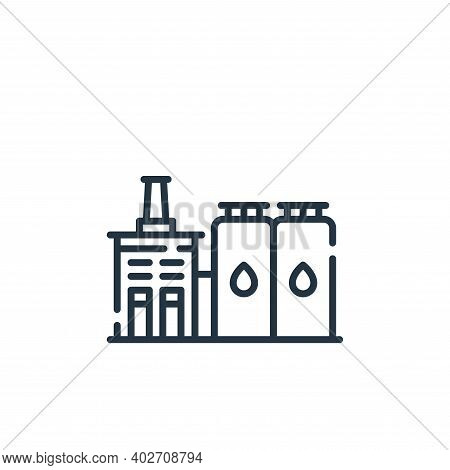 industry icon isolated on white background. industry icon thin line outline linear industry symbol f
