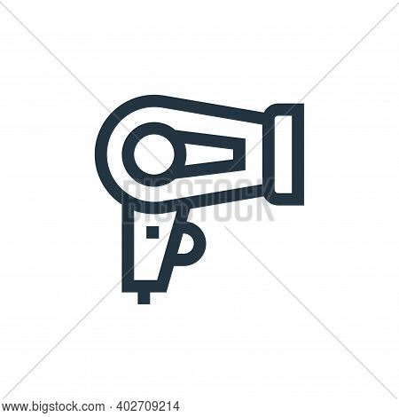 hair dryer icon isolated on white background. hair dryer icon thin line outline linear hair dryer sy