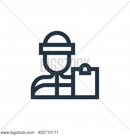 coach icon isolated on white background. coach icon thin line outline linear coach symbol for logo,