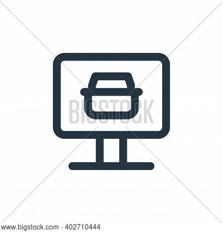 online shop icon isolated on white background. online shop icon thin line outline linear online shop