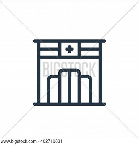 pharmacy icon isolated on white background. pharmacy icon thin line outline linear pharmacy symbol f