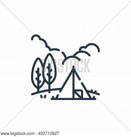 camping tent icon isolated on white background. camping tent icon thin line outline linear camping t