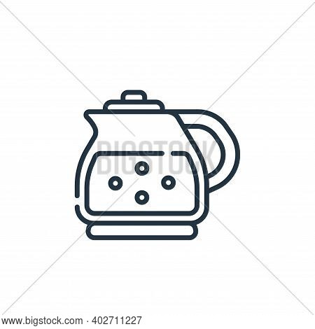 kettle icon isolated on white background. kettle icon thin line outline linear kettle symbol for log