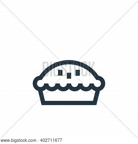 pie icon isolated on white background. pie icon thin line outline linear pie symbol for logo, web, a