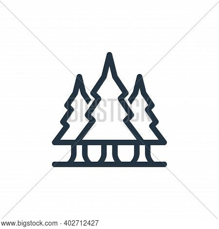 pine tree icon isolated on white background. pine tree icon thin line outline linear pine tree symbo